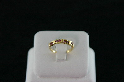 14KT Y/G Ruby 0.40ct Band