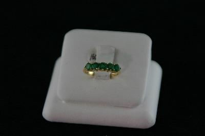 14KT Y/G Emerald Band, 1.00ct. 2.3gr