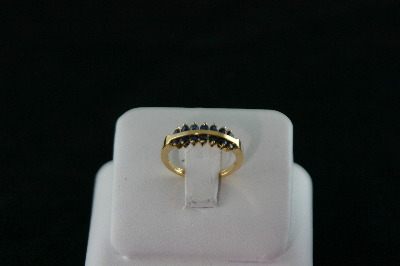 14KT Y/G Sapphire 0.70ct Band 2.8gr