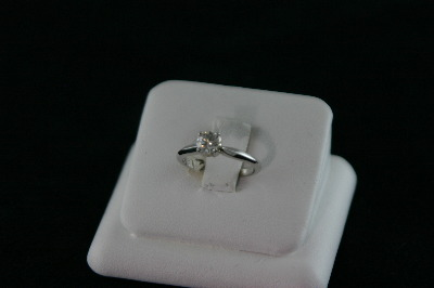 14KT White Gold Round Diamond 0.52ct Solitaire