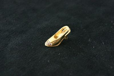 14KT Y/G High Heel Diamond 0l.25ct Pendant