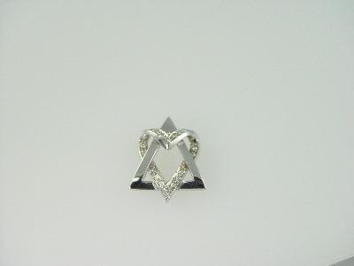 14KT White Gold Star Heart Diamond 0.40ct Pendant