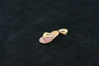 14KT Y/G Pink Opal Sandel