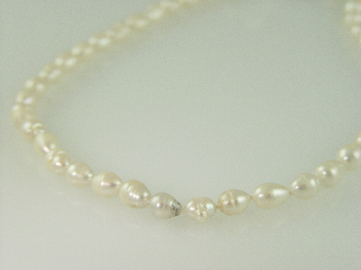 "30"" Rice Pearl Necklace"