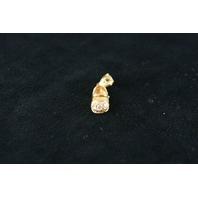 14KT Y/G Shoe Pendant