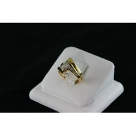 14KT Y/G Channel Set Diamonds 0.40ct 1- Marquise Diamond 0.64ct J-SI2