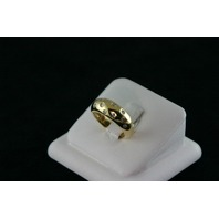 14KT Y/G Flush Set Diamond Band, 0.35ct - 7.8gr