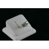 Platinum Semi- Filigree Set - 2 Baguettes 0.28ct - 8.7gr