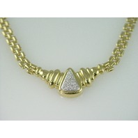 14KT Y/G Diamond Pave 0.40ct Necklace 39.20ct