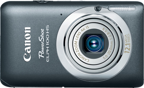 Canon PowerShot ELPH 100 HS 12.1-Megapixel Digital Camera - Gray