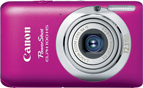 Canon PowerShot ELPH 100 HS 12.1-Megapixel Digital Camera - Pink