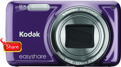 Kodak EasyShare M583 14.0-Megapixel Digital Camera - Purple