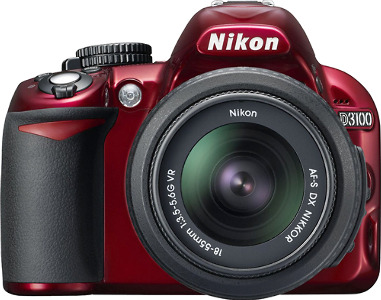 Nikon D3100 14.2-Megapixel DSLR Camera with 18-55mm VR Lens - Red