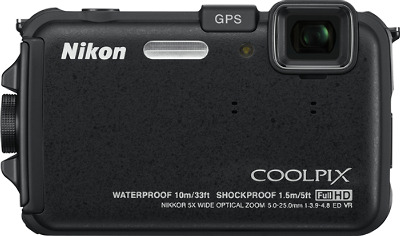 NIKON Coolpix AW100 Black 16.0-Megapixel Digital Camera - Black