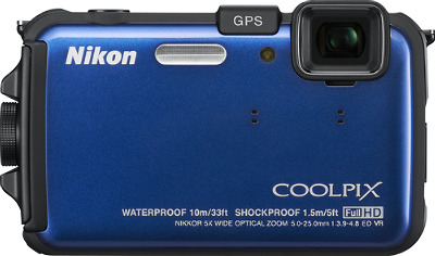 NIKON Coolpix AW100 Blue 16.0-Megapixel Digital Camera - Blue