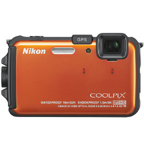NIKON Coolpix AW100 Orange 16.0-Megapixel Digital Camera - Orange