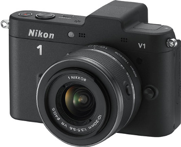Nikon 1 V1 10.1-Megapixel Digital Camera with 10-30mm Lens Kit - Black