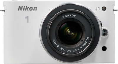 Nikon 1 J1 10.1-Megapixel Digital Camera - White