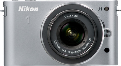 Nikon 1 J1 10.1-Megapixel Digital Camera - Silver