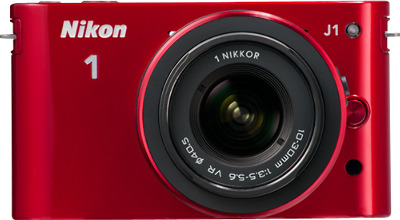 Nikon 1 J1 10.1-Megapixel Digital Camera - Red