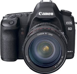 Canon Canon EOS 5D Mark II 21.1-Megapixel DSLR Camera with EF 24-105mm Lens - Black