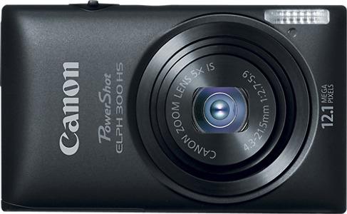 Canon PowerShot ELPH 300 HS 12.1-Megapixel Digital Camera - Black