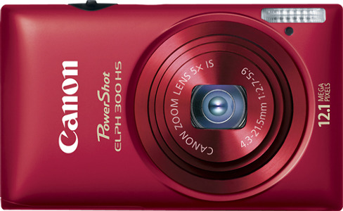 Canon PowerShot ELPH 300 HS 12.1-Megapixel Digital Camera - Red