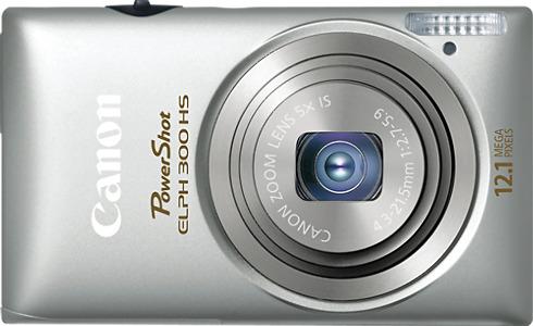 Canon PowerShot ELPH 300 HS 12.1-Megapixel Digital Camera - Silver