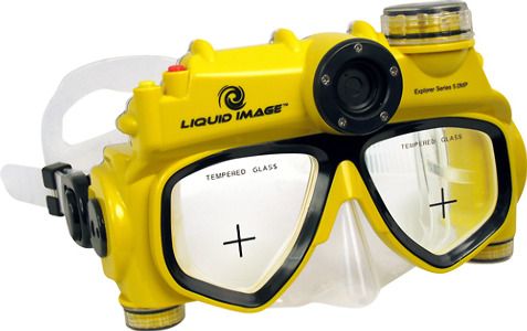 Liquid Image XSC Explorer Series 8.0MP Underwater Digital Camera Mask - Yellow