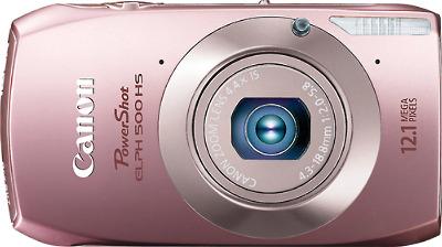 Canon PowerShot ELPH 500 HS 12.1-Megapixel Digital Camera - Pink