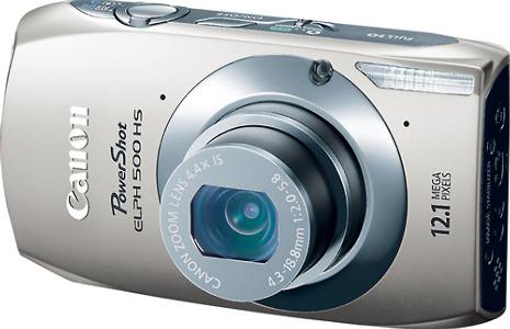 Canon PowerShot ELPH 500 HS 12.1-Megapixel Digital Camera - Silver