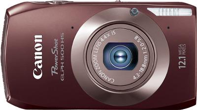 Canon PowerShot ELPH 500 HS 12.1-Megapixel Digital Camera - Brown