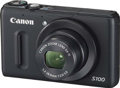 Canon PowerShot S100 Black 12.1-Megapixel Digital Camera - Black