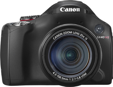 Canon PowerShot SX40 HS Black 12.1-Megapixel Digital Camera - Black