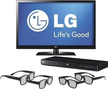 "LG 55"" Class / LED / 1080p / 120Hz / 3D / HDTV 3D Blu-ray Player Bundle"