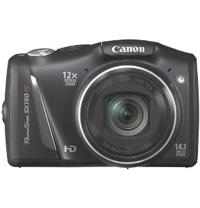 CANON PowerShot SX150 IS Black 14.1-Megapixel Digital Camera - Black
