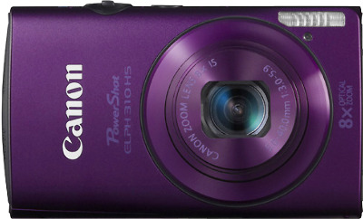 CANON PowerShot ELPH 310 HS Purple 12.1-Megapixel Digital Camera - Purple