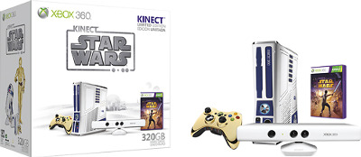 Microsoft Xbox 360 Console Limited Edition Kinect Star Wars Bundle