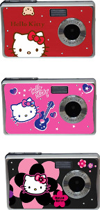 Hello Kitty 7.1-Megapixel Digital Camera - Black/Pink/Red