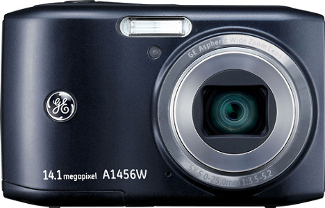 GE Smart Series A1456W 14.1-Megapixel Digital Camera - Black