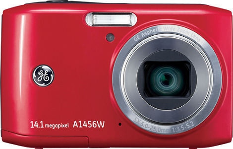 GE Smart Series A1456W 14.1-Megapixel Digital Camera - Red