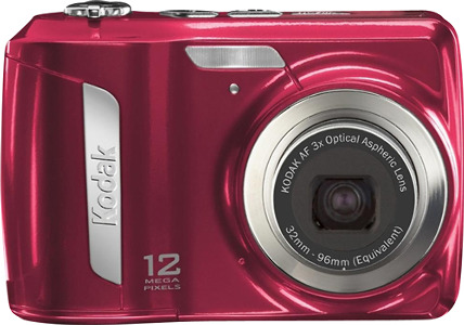 Kodak Refurbished EasyShare C143 12.0-Megapixel Digital Camera - Red