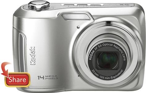 Kodak EasyShare C195 14.0-Megapixel Digital Camera - Silver