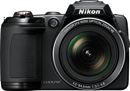 Nikon Coolpix L120 14.1-Megapixel Digital Camera - Black
