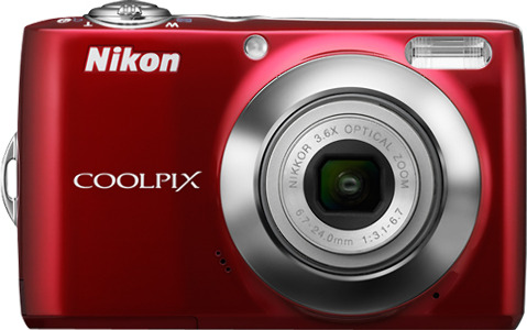 Nikon Coolpix L24 14.0-Megapixel Digital Camera - Red