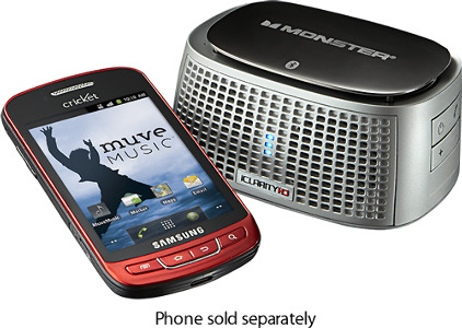 Cricket Muve Samsung Vitality No-Contract Mobile Phone with Monster iClarity Speaker - Red