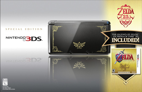 Nintendo Nintendo 3DS (Cosmo Black) with The Legend of Zelda: Ocarina of Time 3D