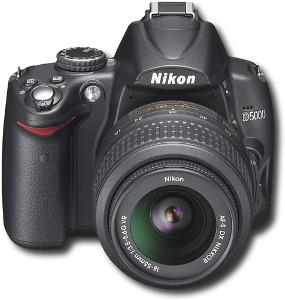 Nikon 12.3-Megapixel D5000 DSLR Camera with 18-55mm Lens - Black