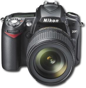 Nikon 12.3-Megapixel D90 Digital SLR Camera - Black
