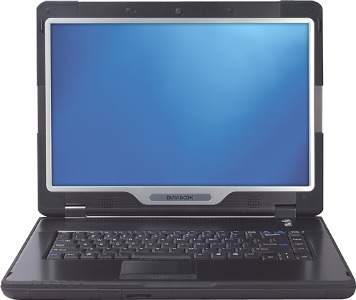 "GammaTech Ruggedized Laptop / Intel® Core™2 Duo Processor / 15.4"" Display - Black/Silver"